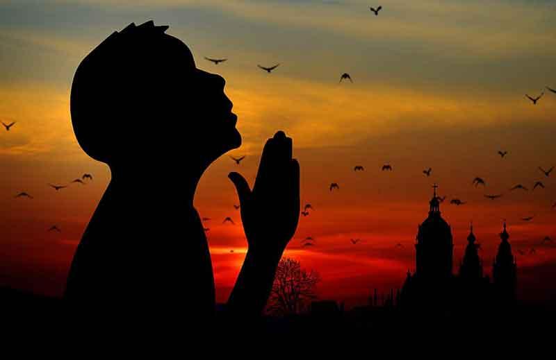 religion faith pray man